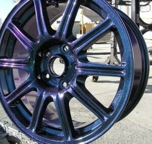 metallic coated wheel rim